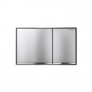 Geberit Sigma60 Brushed Chrome Dual Flush Plate - 115.640.GH.1